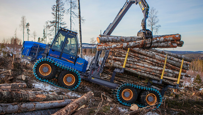 Rottne F20D – now with 27 tonnes tractive force